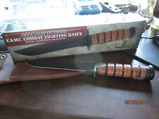 """Officially Licensed Usmc United States Marine Corp Fighting Knife w Sheath 12"""""""