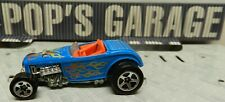 32 FORD DEUCE ROADSTER DADS BLUE RAT ROD STREET POP'S GARAGE HW HOT WHEELS