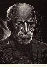 "CHARLES PONT ORIGINAL Woodblock Print WPA African American Man ""Of the South"""
