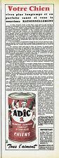 Publicité Advertising 107  1955  aliment composé complet pour Chiens Adic