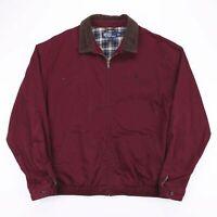 Vintage POLO RALPH LAUREN Burgundy Casual Harrington Jacket Mens Size XL