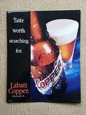 Labatt Copper Tin Advertising Sign, 16 x 20, NOS, EC