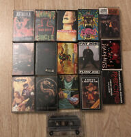 Lot of 16 Vintage 90s Music Cassette Tapes Hip Hop Rock Metal
