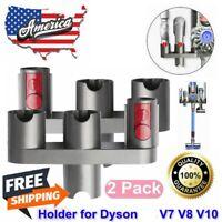2Pcs For Dyson V7 V8 V10 Wall Mount Accessory Attachment Storage Rack Holder