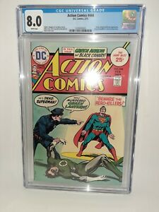DC Action Comics #444 Cgc 8.0 White Pages 1975 FREE SHIPPING