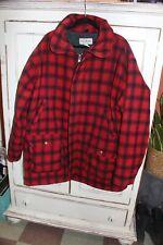 New listing Vintage Ll Bean - Wool Mackinaw Jacket - Red Black Plaid 2xl 3xl mens coat