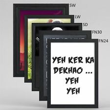 Black Picture Photo Poster frame in 5  Styles, A1 A2 A3 A4 Large Square All size