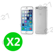 2PC Pink iPhone 6 / 6s Gel Case Cover Ultra Thin Full Body Case Clear AU