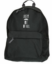 like a bat out of hell backpack ruck sack Size: 31x42x21cm