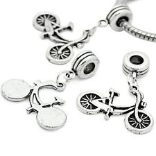 """""""Bicycle """" Dangle Spacer Beads For Snake Chain Charm Bracelet"""