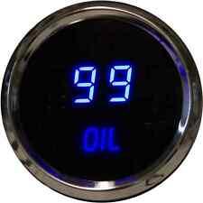 "52mm 2 1/16"" BLUE LEDs CHROME Digital OIL PRESSURE Gauge Intellitronix Sender US"