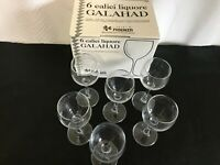 Set of 6 Fidenza Galahad Liqueur Cordial Sherry Aperitif Glasses