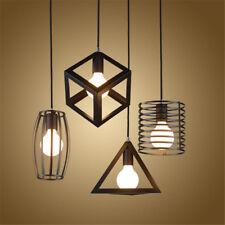 E27 Rétro Industriel Pendentif Abat-Jour Plafonnier Lampe Chandelier Géométrique
