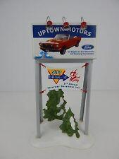 Dept 56 Snow Village Uptown Motors Ford Billboard #52780 Good Condition a