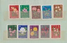 Portugal Colonies Macau Macao 1953 Flowers set of 10 unmounted mint.Original cov