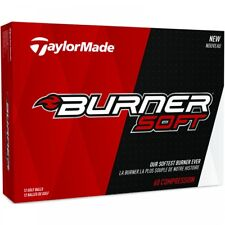 """NEW 2018"" TAYLORMADE BURNER SOFT WHITE GOLF BALLS / 1 DOZEN / 12 BALL PACK"