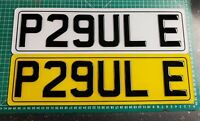 """SHORT SMALL 40.5 CMS BLACK OR CARBON NUMBER PLATES 3D GEL RESIN 6 CHARACTER 16"""""""