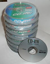 80 Btand New CD-RW Rewritable 700MB Blank Media Disk H.Q.