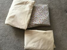 2 Vintage Twin Fitted Sheet And 1 Twin Flat Sheet Springmaid No Iron Wondercale