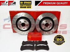 FOR LEXUS IS F 2007-2013 FRONT DRILLED BRAKE DISCS PADS PAD SET 360mm