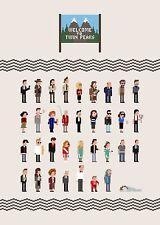 30 Squared - Pixel Peaks Print by Jim'll Paint It Laura Palmer Twin Peaks