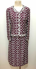 HAPPENING VINTAGE '60 Completo Donna Optical Cotton Woman Tailleur Sz.M - 44