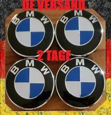 4x BMW Nabendeckel NEU Radnabe Abdeckung Nabenkappen 68 mm Blau/Weiß 1 2 3 4 5 7