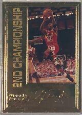 MICHAEL JORDAN 1998 Upper Deck 22 Kt Gold Card  2nd Championship