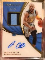 2018-19 Immaculate Jevon Carter RPA RC Rookie Patch On Card AUTO /99 Grizzlies