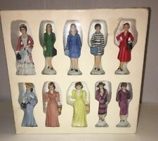 Set Of 10 Vintage Avon Lady Figurines  Made In Japan