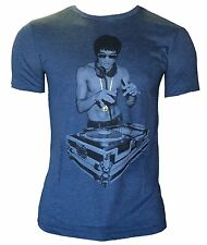 Bruce Lee DJ Heather Blue T shirt Rayon Blend!  MMA dragon S, M, L, XL, XXL RDJ
