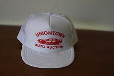 Vintage Uniontown Auto Auction White Mesh Snap Back Trucker Hat
