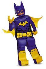 NWT Lego Batgirl Batman Movie Halloween Costume Girl MED 7-8 Prestige Mask Hands