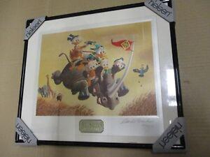 Carl Barks - Auf Safari # DE 25/199 -  Limitiert Signiert Nummeriert Gerahmt