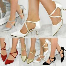 Womens Ladies Bridal Wedding Shoes Strappy Sandal Bridesmaid Mother Of The Bride
