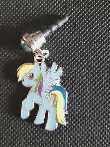 My Little Pony Cell Phone Strap Plug charm Rainbow Dash Fits most cell phones