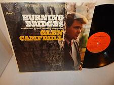 GLEN CAMPBELL Burning Bridges Capitol SY4653 orange label NM vinyl shrink EXC LP