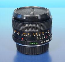 Yashica ML 28mm/2.8 Objektiv lens objectif für Contax Yashica YC - (40550)