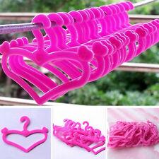 20PCS Plastic Hangers for Barbie Doll Dress Clothes Accessories Mixed Random YA