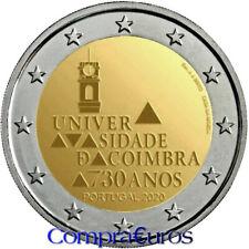 2 Euros Conmemorativos PORTUGAL 2020 *Universidad de Coímbra* Sin Circular