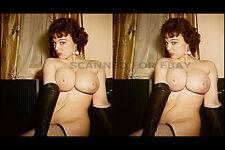 Lorraine Burnette stereoview print nude model woman female girl busty photo 3D