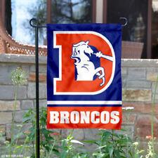 Denver Broncos Throwback Logo Garden Flag and Yard Banner
