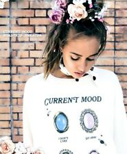 Wildfox Current Mood Mood Rings Road Trip Sweatshirt M / L Sold Out HTF