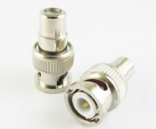 1 x BNC Male To RCA Female Jack  Straight CCTV Connector Adapter Nickel Plated