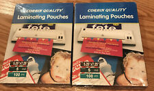 200 Laminating Pouches Laminator Sheets 5 14 X 7 14 5 Mil Corbin Quality Read