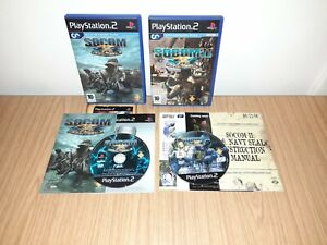 SOCOM NAVY SEALS 1 & 2 FOR PS2 WITH MANUELS BOTH VERY GOOD CONDITION