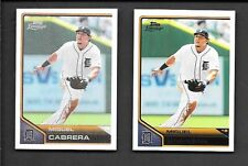 MIGUEL CABRERA 2011 TOPPS LINEAGE #43  REGULAR & CLOTH STICKER #TCS42