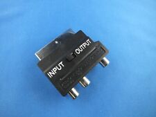Scart Audio Video S Kabel ADAPTER Input Output Kamera Foto Chinch JVC Canon TOP