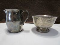Wm Rogers & Son Paul Revere Reproduction Silverplate Creamer & Sugar Bowl