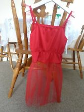 Dressing up fairy red spaghetti strap gauze net skirt, frills, Christmas 1-4 yrs